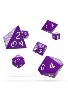 Oakie Doakie Dice: RPG Set Solid Purple (7)