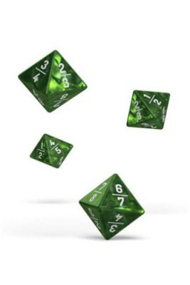 Oakie Doakie Dice: 18mm D4 Goyf Marble Green (4)