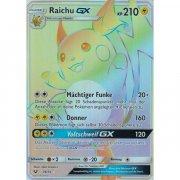 Pokemon: Raichu GX / Raichu GX DE NM Rainbow (Schimmernde...