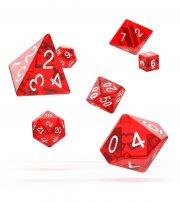 Oakie Doakie Dice: RPG Set Translucent Red (7)