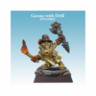 Gnome with Drill