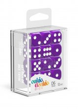 Oakie Doakie Dice: 16mm D6 Solid Purple (12)