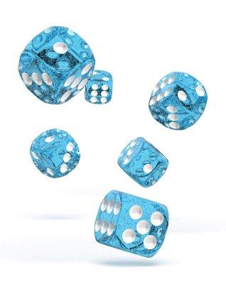 Oakie Doakie Dice: 16mm D6 Speckled Light Blue (12)