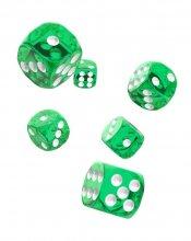 Oakie Doakie Dice: 16mm D6 Translucent Green (12)