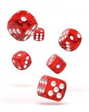 Oakie Doakie Dice: 16mm D6 Speckled Red (12)