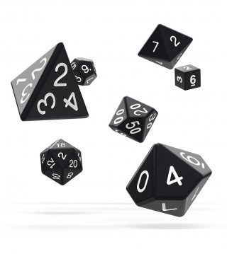 Oakie Doakie Dice: RPG Set Solid Black (7)