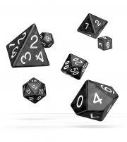 Oakie Doakie Dice: RPG Set Marble Black (7)