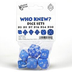Who Knew? - Dice Set Blue