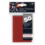 Deck Protector Sleeves Standard Size (Red) 50 Stk