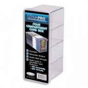 Ultra Pro: 4-Compartment Card Box - Clear