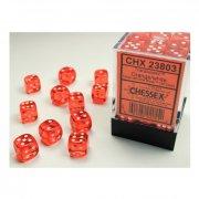 Chessex: Orange/White Translucent D6 Dice Block (36 Dice)