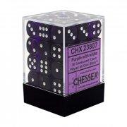 Chessex: Purple/White Translucent D6 Dice Block (36 Dice)