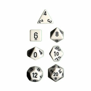 Chessex: Opaque Polyhedral 7-Die Sets White/Black