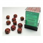 Chessex: Strawberry Speckled D6 Dice Block (36 Dice)
