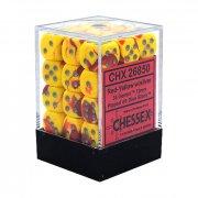 Chessex: Gemini Red-Yellow/Silver d6 Dice Block