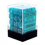 Chessex: Cirrus Aqua/Silver d6 Dice Block