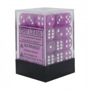 Chessex: Purple/White Frosted D6 Dice Block (36 Dice)