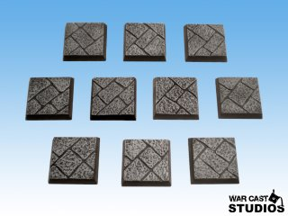 War Cast Studios: Square Cobblestone Bases 20mm (10)