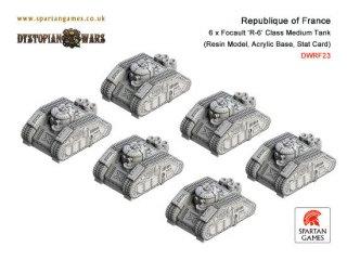 Dystopian Wars: Republique of France - Focault R-6 Class Medium Tank (6)