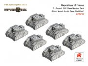 Dystopian Wars: Republique of France - Focault R-6 Class...